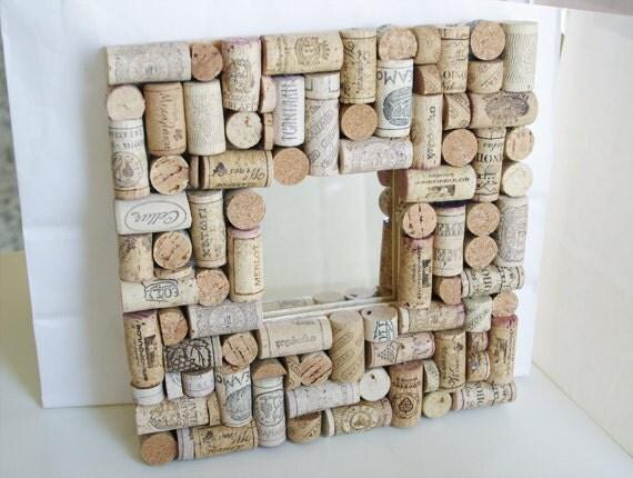cork memo board with mirror