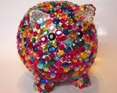 Bling Rhinestone Piggy Bank