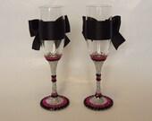 Rhinestone Champagne Flutes Bridal Toasting Bling