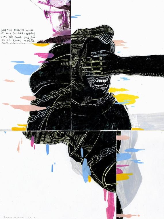 Metamorphosis (Scratchboard Painting )