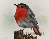 PRINT of Original Spring Bird Watercolor