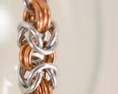 Bright Aluminum and Copper Byzantine Bracelet