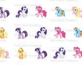 My Little Pony Bottle Cap Images - 4x6 Digital Collage Sheet - 1 Inch Circle