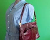 The Boardroom Bombshell - Lou Taylor Italian Leather Oxblood Bag