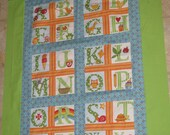 Alphabet Baby/Toddler Boys Quilt - Price Reduced