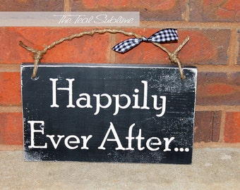 Happily Ever After- Custom Wooden Wedding Sign