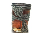 Canning Jar Candle, Buyers Choice Scented, Farmhouse Chic Decor, Gel Home Fragrance, Hand Poured Quality Ingredients, Brown Green Color