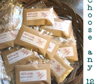 Scented Sachets Gift for Her Him Guests Mini Party Favors Seed Packets Pick Color Envelope, Scent, Label DIY Homemade Place Cards Lavender