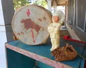 Camp/Cabin Decor - Vintage Drum, Indian Chief and Moccasins Post Card