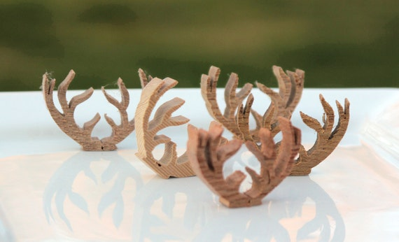 Supplies, Wooden Reindeer Antlers Cut Outs tiny