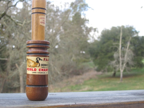 Cyber Monday Etsy Coupon Code Vintage Duck Call (Caller) Faulk's Honker Call 50s/60s