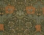 1/2 yard - Morris & Company Honeysuckle Damask Black by Barbara Brackman for Moda Fabrics Reproductions from the late 19th Century.