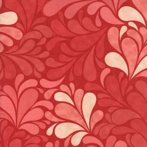 1/2 Yard Salt Air by Cosmo Cricket for Moda - 100% Cotton Quilt Fabric - Sea Garden Coral