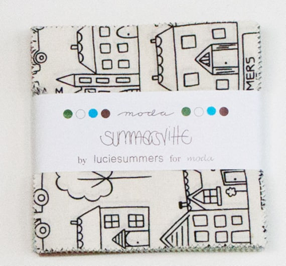 SUMMERSVILLE Charm Pack by LUCIE SUMMERS for Moda Fabrics.