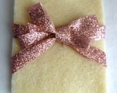 White and Pink Gift Holder/Gift Pouch - Perfect for Valentine's Day or any Occasion
