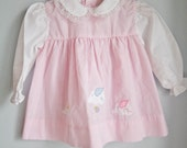 Vintage Baby Girl Dress and Knickers  - 12 months