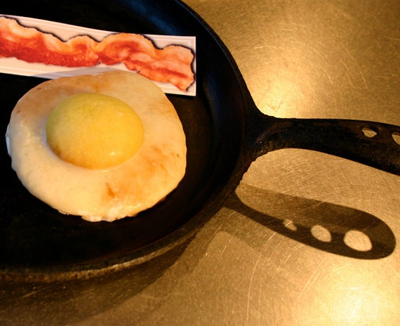 Delivered APRIL FOOLS, It's a Cookie... Two Sugar Cookies made to look like over-easy eggs with a side of bacon gift card, Quantity: 2