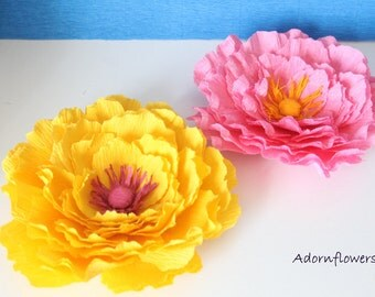 Paper flowers-Paper peony for cake topper,table decoration and favor