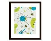 Mid century modern art print - abstract art - atomic design