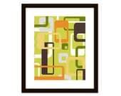 Mid century modern art print - geometric abstract - art print poster - cottage, kitchen, bedroom, office art