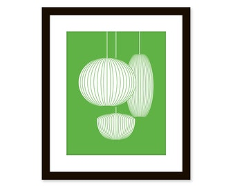 Mid century modern print - Nelson bubble lamps - art poster - Available in different sizes