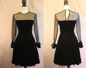 RESERVED for Jessica // Vintage 50's Velvet Party Dress // Hollywood Nites // Small 2 4 // Mad Men