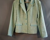RESERVED//Vintage Mint Aqua Blazer Jacket // Pendleton