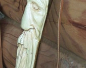 Carved Wood spirit walking stick with free shipping in U.S.