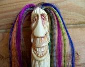 Reggae wood spirit walking stick  Free shipping in the U.S,