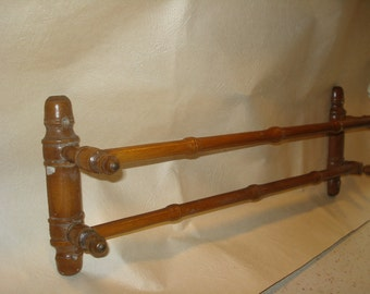 French Wooden Wall towel rail