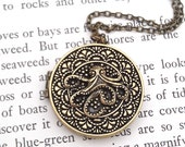 Ready To Ship Octopus Locket Necklace - The Deep