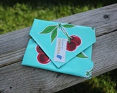 Cherry Red Polkadots Reusable Sandwich / Snack Wrap