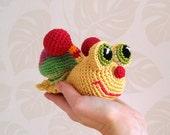 Crochet Toy, Crochet Snail , Amigurumi Snail, Amigurumi Crochet Snail