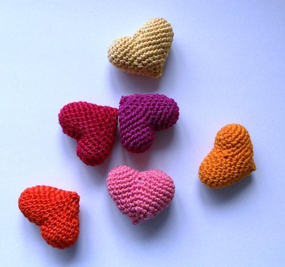 Crochet Hearts Amigurumi Valentines Day Heart Gift Love Heart
