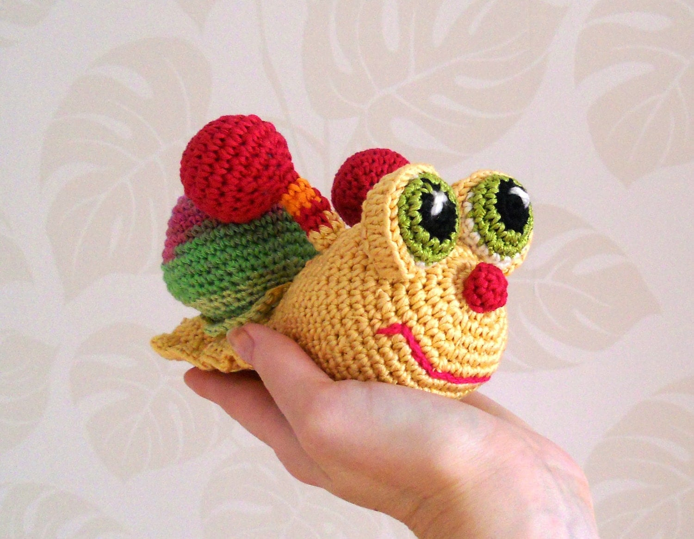 Amigurumi Crochet Toys : Crochet Toy Crochet Snail Amigurumi Snail Amigurumi