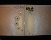 Complete Wedding Photo Keepsake Album With 20 Premade Scrapbook Pages
