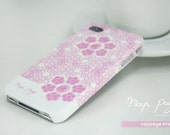 iphone 4 case, case for Iphone 4 Blackberry mobile Case handmade: Pink rose