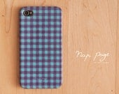 Apple iphone case for iphone iphone 4 iphone 4s iphone 3Gs : Blue and Violet Scott Plaid Pattern