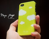 iphone 4 case , iphone 4s case , case for Iphone 4 Blackberry mobile Case handmade: Abstract Green sky with white cloud