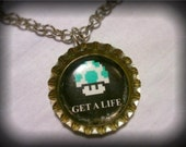 1UP Bottle Cap Necklace.