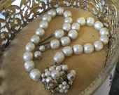 Reserved for Jacqueline DeMario NY Faux Pearl Vintage Necklace