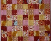 Modern Flannel Baby Girl Quilt