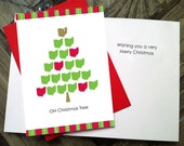 OH Christmas Tree Greeting Card-for one