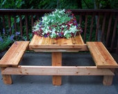 Picnic Table - Two Person/Child - Patio Furniture - Outdoor Wood Furniture