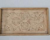 1930's Beech Wood Serving Tray - Hand Made in England