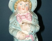 Vintage Continental Victorian Bisque Figurine of Grandpa - Made in Germany
