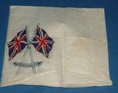 1937 Souvenir Napkin for the Coronation of King George VI or King Edward VIII 1937