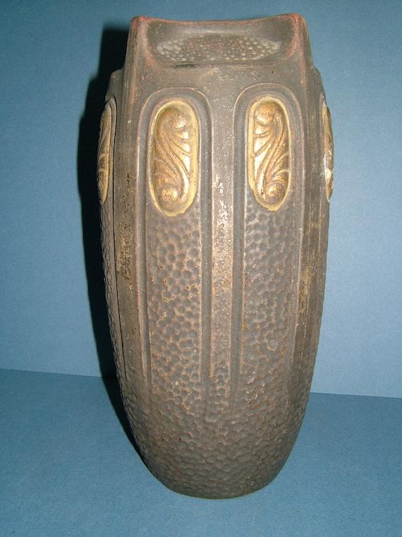 RESERVED - Edwardian Bretby Art Pottery Clanta Range Angular Vase Shape No 2346 - Tooth & Co