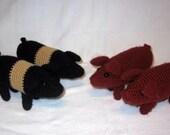Pig MADE to ORDER CUSTOM Realistic Crochet Amigurumi PlanetJune Farmyard Pig Duroc Hampshire Yorkshire