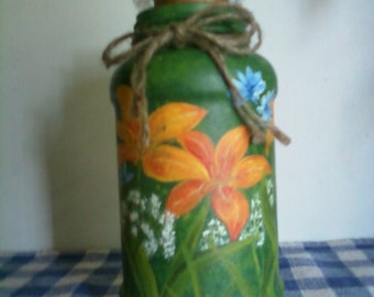 Handpainted Candle Jar
